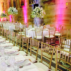sydney uni great hall gold tiffany chairs harbourside decorators