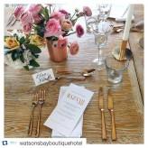 6 Peice Rose Gold Cutlery Set