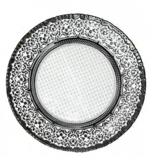 Black & Silver glass charger plates