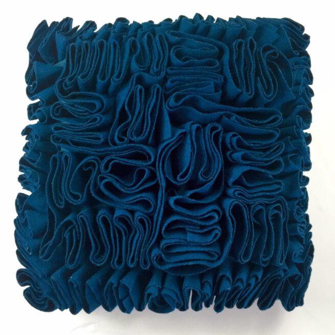 Blue Ruffle Cushion