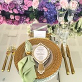 Braided Charger Plates with Gold Cutlery