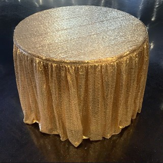 Gold Cake Table Skirting