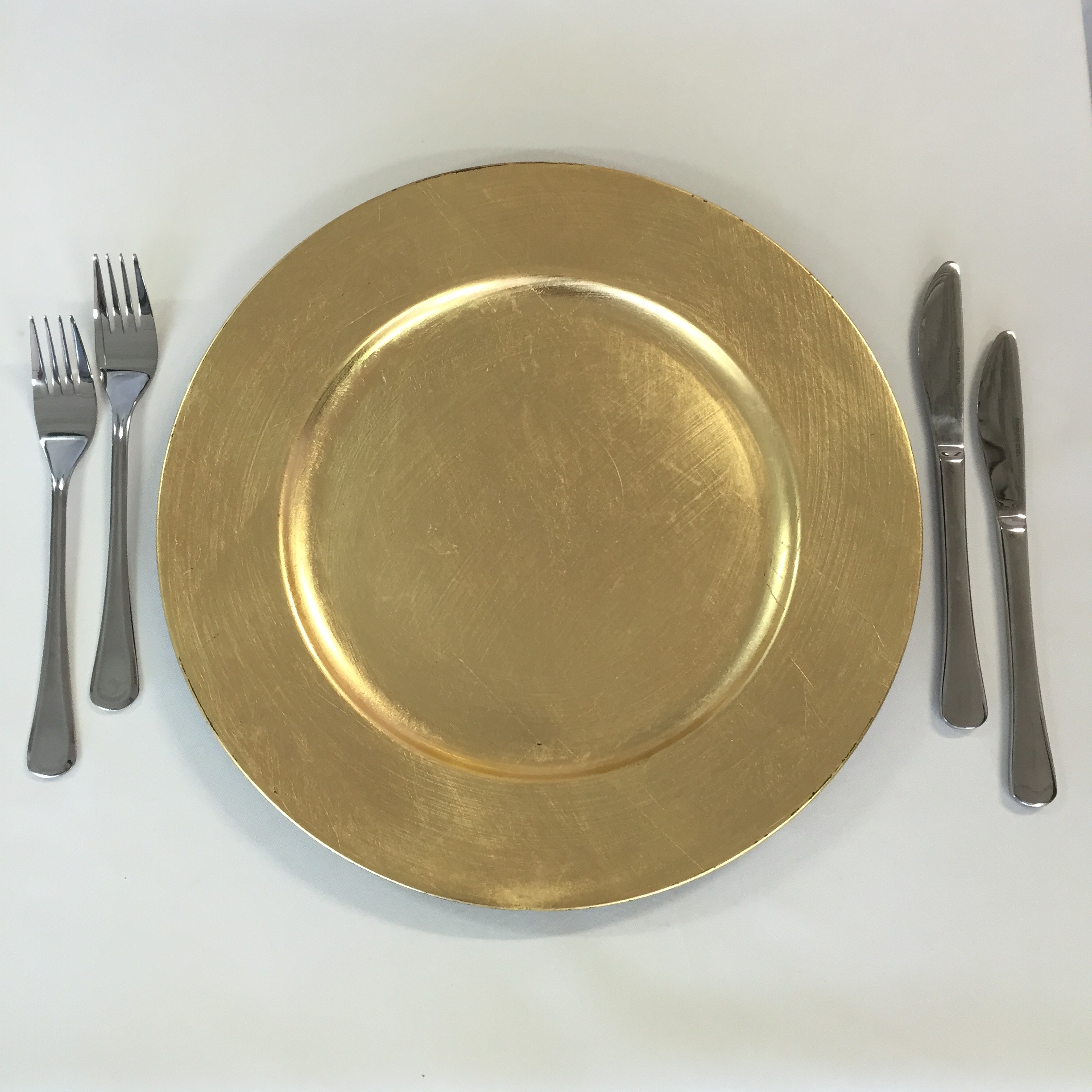 Gold acrylic charger plate harbourside decorators for Decor plates