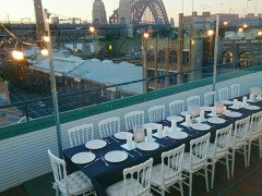 Holiday Inn rooftop Dinner