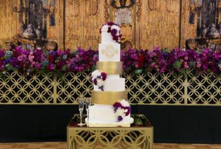 Laser Cut Gold Bridal Table