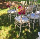 Limewash Chairs with ceremony flowers