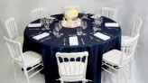 Navy & Yellow with Napoleon Chairs