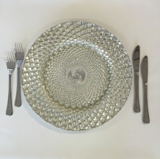 Silver Scale Charger Plate
