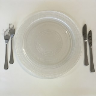 White Pearl Charger Plate