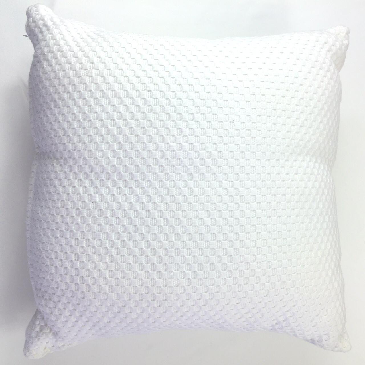 White Textured Cushion Harbourside Decorators