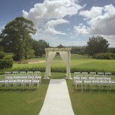 White wash canopy with Napoleon Chairs