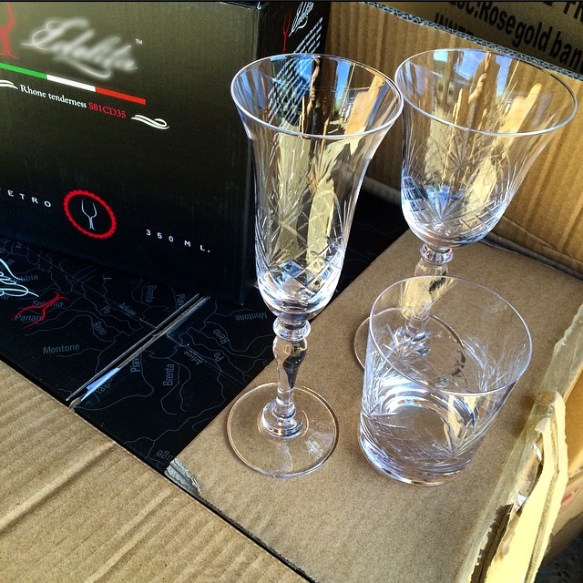Luxury event glassware for weddings