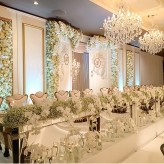 Lux Bridal Table and Backdrop Wall