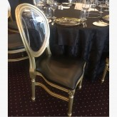 Gold Louis Chair with black pad