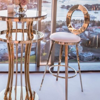 Gold O Bar Stool
