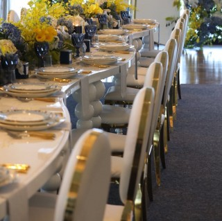 Curved White Tables