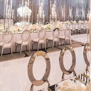 Silver O Back Chairs