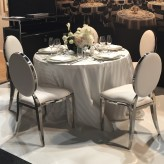 silver round back chairs