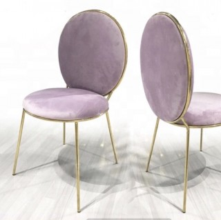 Lilac Velude Chair