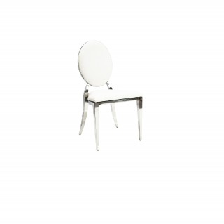 Silver Rim padded chair - Angle