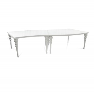 White Curved Table
