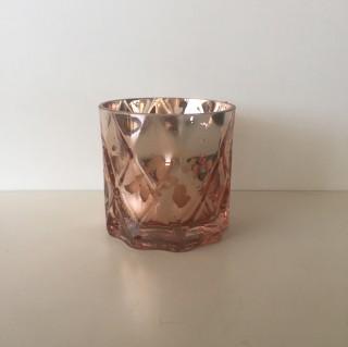10cm Rose Gold Cylinder Vase