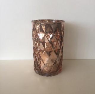 20cm Rose Gold Cylinder Vase