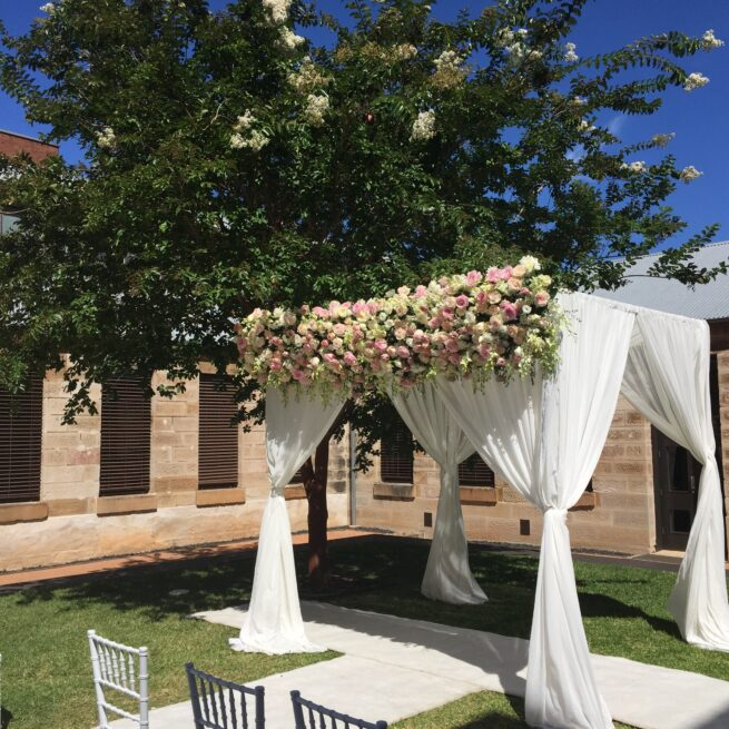Chiffon Canopy with Fresh Flowers