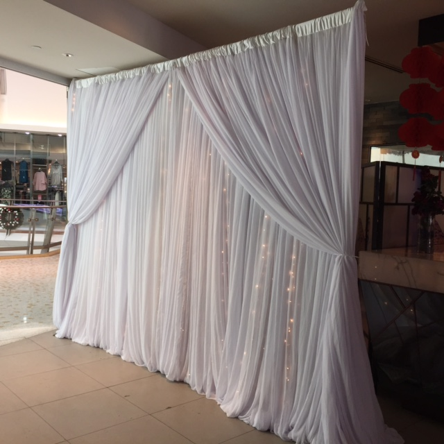 Chiffon Cutain Backdrop Hire
