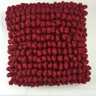 Crimson Nobbly Cushion
