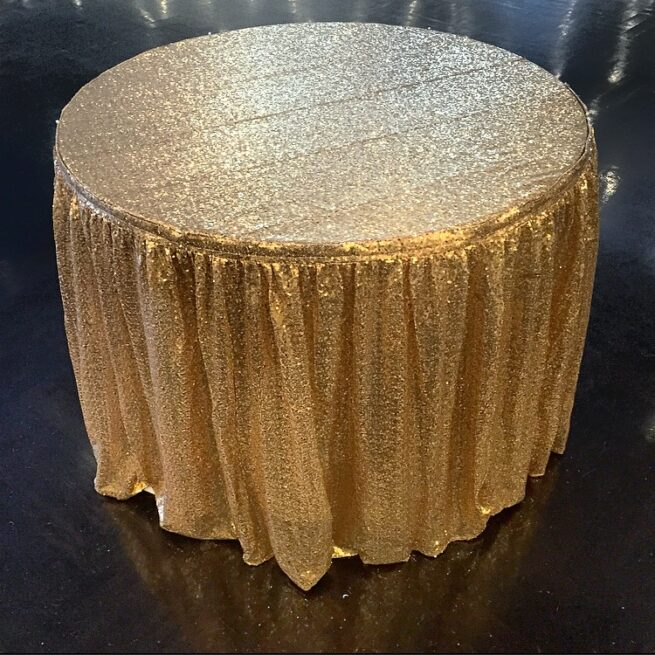 Gold Cake Table Skirting