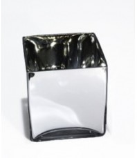 Mirror Cube Vase 10cm