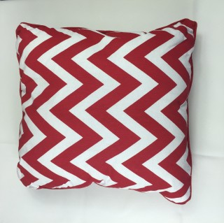 Red chevron Cushion