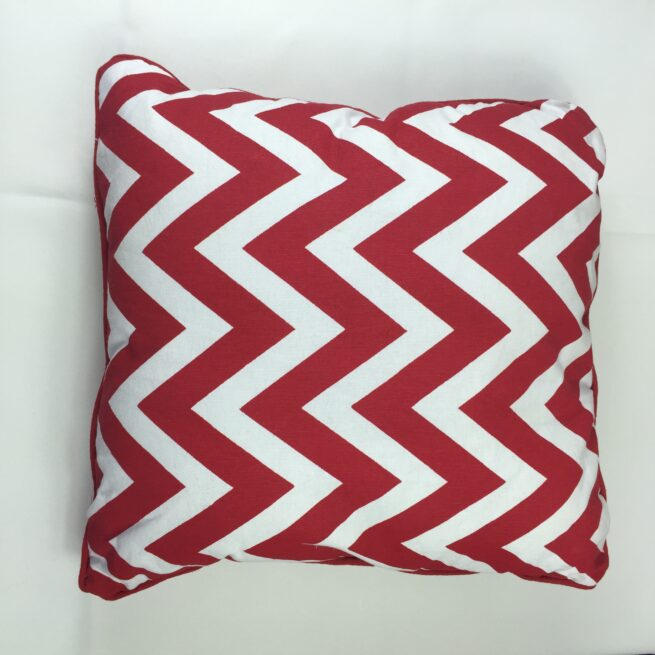 Red chevron Cushion