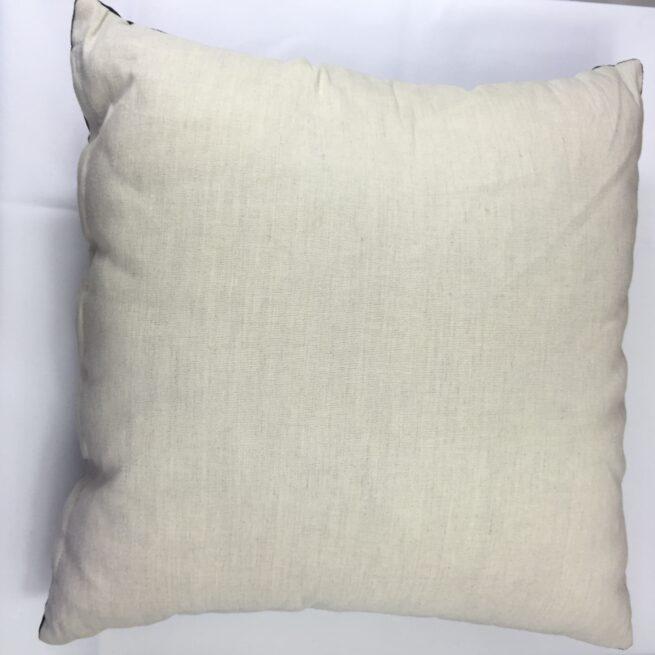 Reverse side of Navy Velvet Cushion