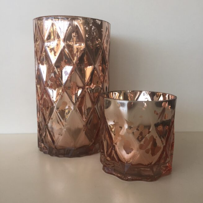 Rose Gold Cylinders
