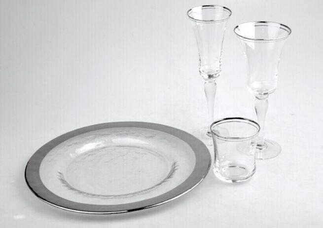 Silver Rim Glassware