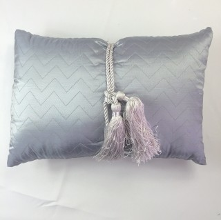 Silver Tassel Cushion