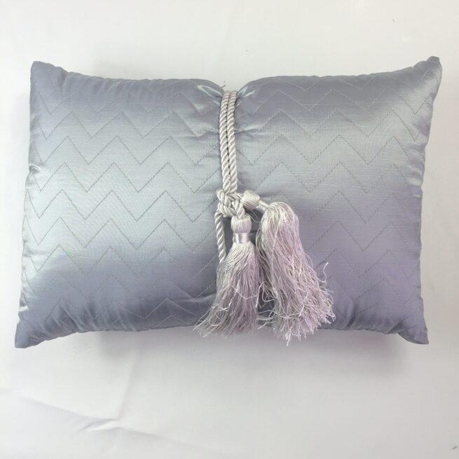 Silver Tassel Cushion