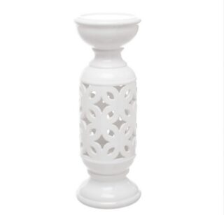 White Ceramic Candle Holder 11cm x 30cm