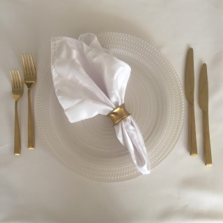 White Damask Napkin