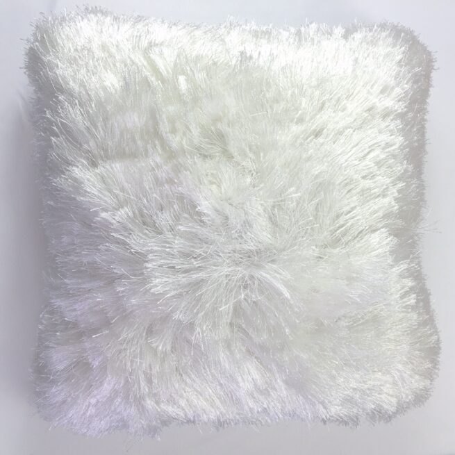 White Furry Cushion