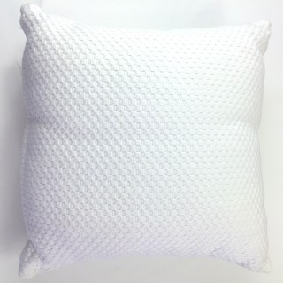 White Textured Cushion