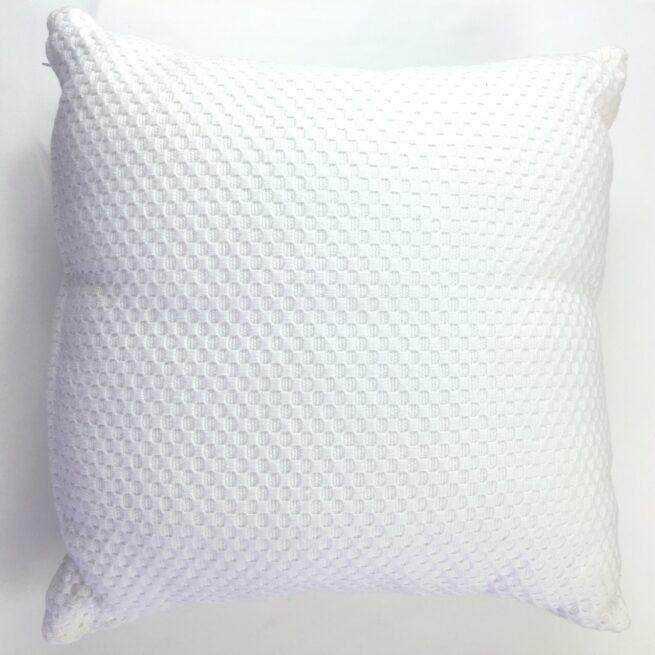 White Textured Cushion
