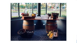Wine Barrel Table for hire