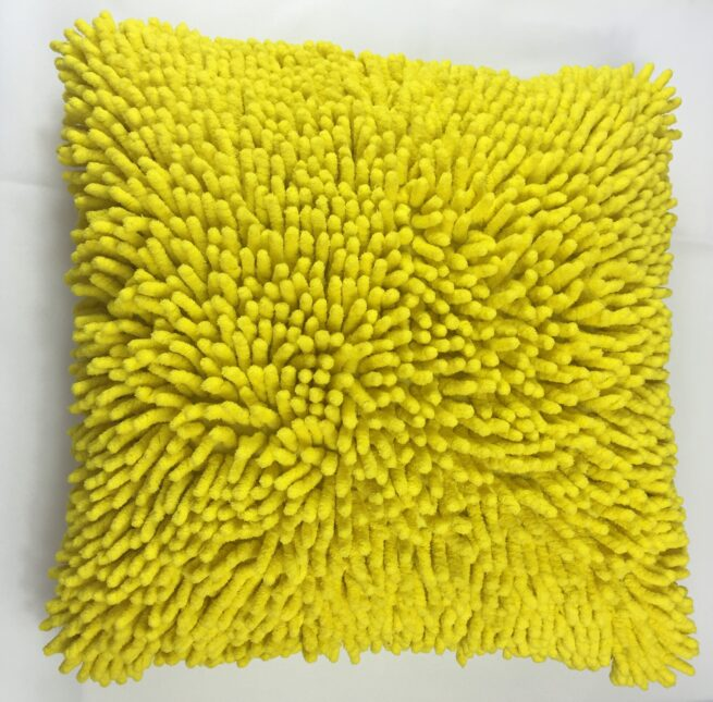 Yellow Shaggy Cushion