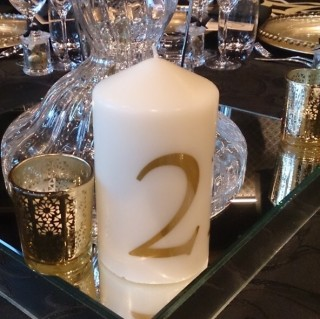 Candle Table Numbers