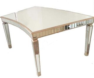 Curved Lux Mirror Tables