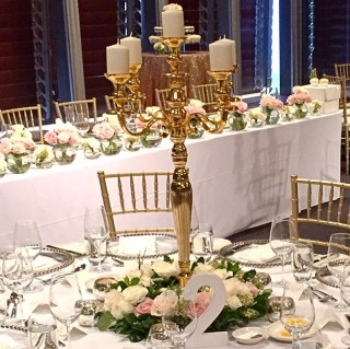 Gold Candleabra - 5 arm