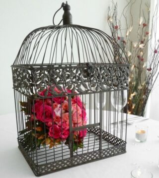Rustic Bird Cage Wishing Well